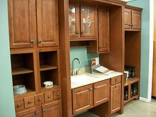 kitchen cabinet set backspash wikipedia picture of setup in a home center store