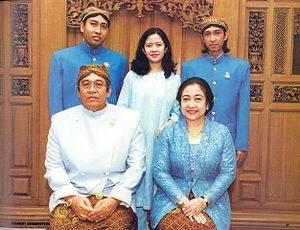 Megawati Sukarnoputri with her husband Taufiq ...