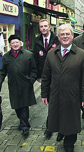 Higgins, Derek Nolan and Eamon Gilmore on the campaign trail, Galway 2008.