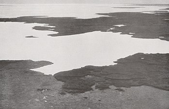 Lake Chad in December 1930. Air photo taken by...