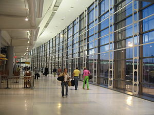 Inside Terminal C, Newark Airport