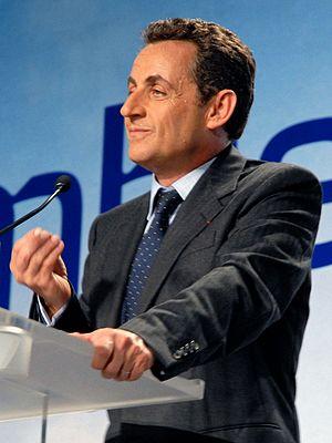 Deutsch: Nicolas Sarkozy bei seiner Toulouser ...