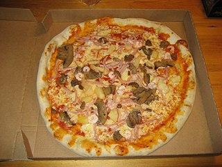 Pizza, en annan italiensk kombination av kött och bröd