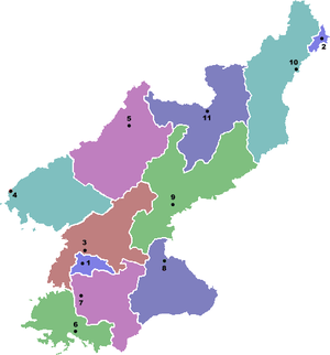 A Political Map of North Korea