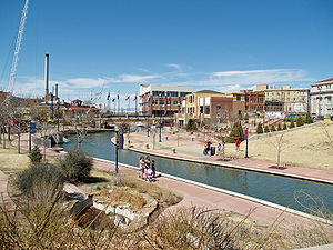Pueblo river walk in Colorado.