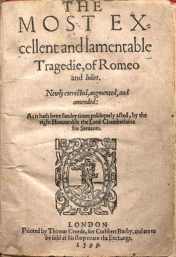 English: Title page of the second quarto editi...