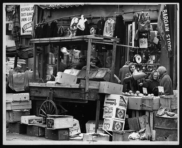 File:Street market - Brownsville - 1962.jpg