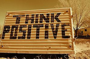English: Think positive