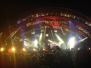 The photo shows Tool appearing at the Roskilde...