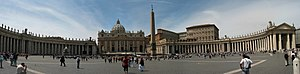 Panorama of St Peter's Square in . Panorama cr...
