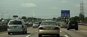 NJ Turnpike near Exit 12 in Carteret, New Jersey.