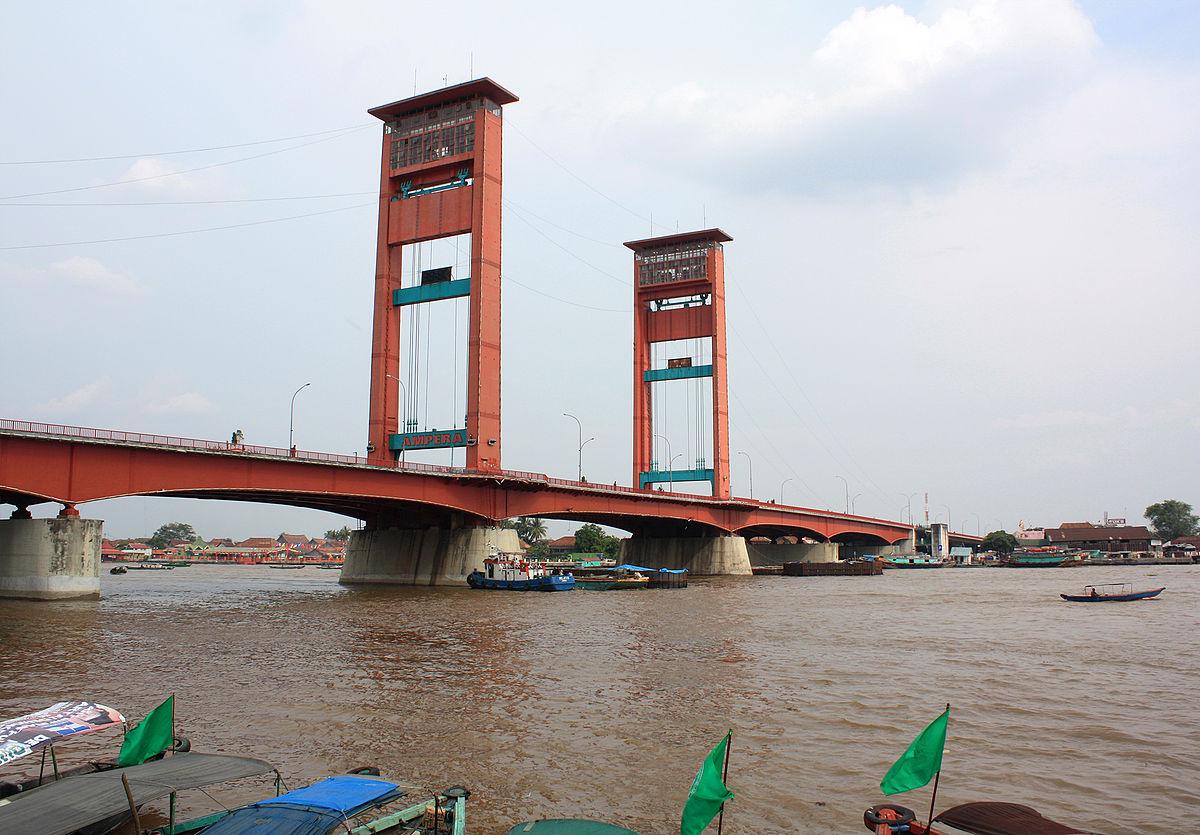 Sketsa Gambar Jembatan Ampera  Sobsketsa