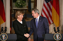 Merkel with President George W. Bush, 2007