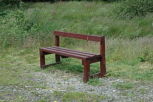Bench along the forest trail of Craigieburn Hi...