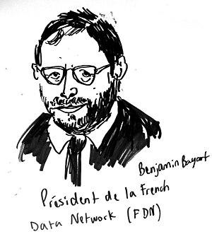 English: drawing of Benjamin Bayart