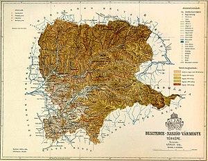 Beszterce-Naszód county map
