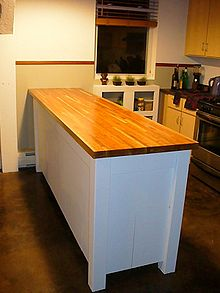 kitchen counter options aid artisan sale countertop wikipedia butcher block top