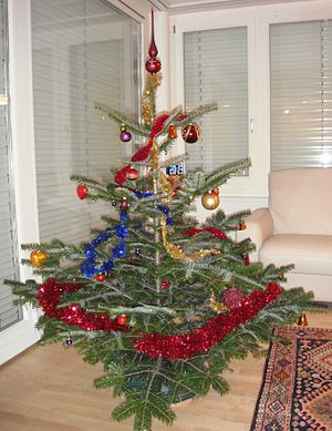 English: Christmas tree, Switzerland.