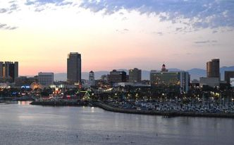 Downtown, Long Beach from Queen Mary (Dusk)