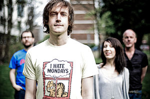 The British indie rock band Farrah in 2009.
