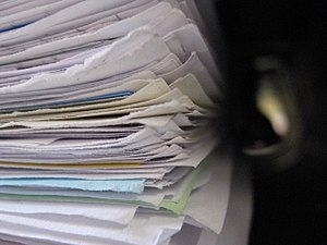 Papers/document pile