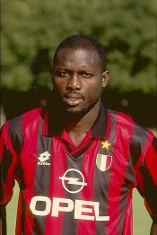 Weah at the start of 1996–97 A.C. Milan season