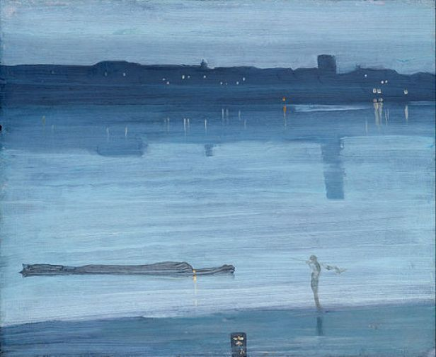 James Abbott McNeill Whistler - Nocturne- Blue and Silver - Chelsea