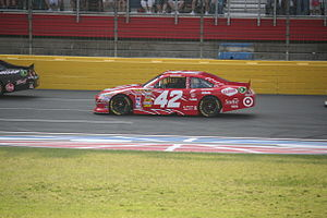 Juan Pablo Montoya's race car during the 2011 ...