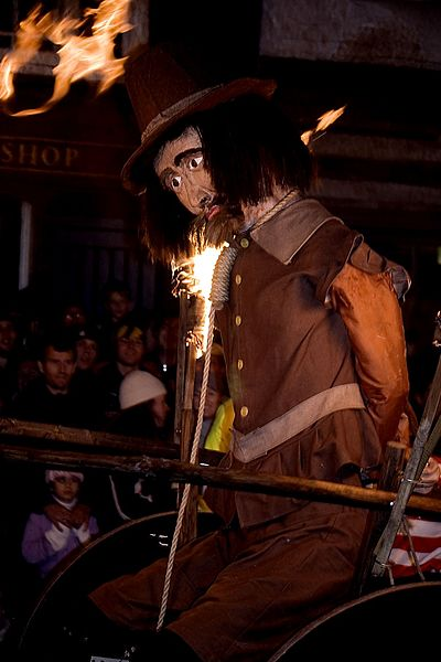 Lewes Bonfire Night, Guy Fawkes effigy