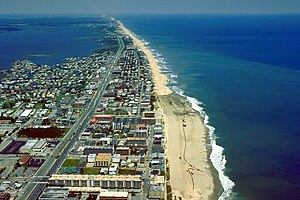 Aerial view of Ocean City, Maryland, USA. View...