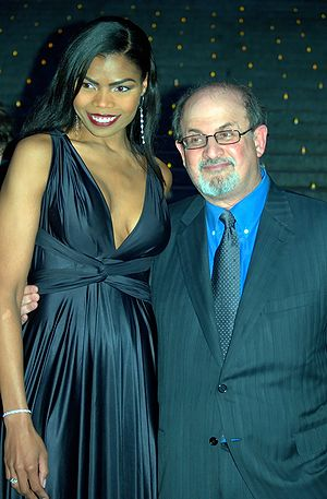 English: Actress Pia Glenn and Salman Rushdie ...