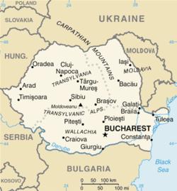 Romania - Mappa