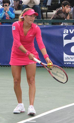 Israeli tennis player Shahar Pe'er at the Isra...