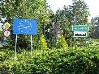 Grenze zwsichen Deutschland und Polen bei Świnoujście (Bild Wusel007/Wikipedia)