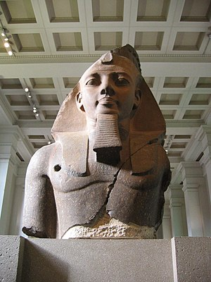 The 'Younger Memnon' statue of Ramesses II in ...