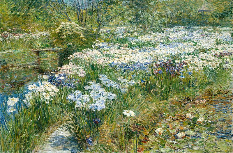 File:Childe Hassam The Water Garden 1909.jpg