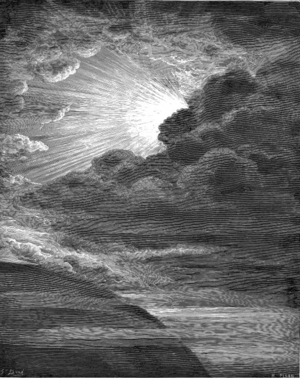 Creation of Light, by Gustave Doré. The engrav...