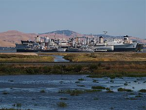 Suisun Bay is famous for hosting the anchorage...