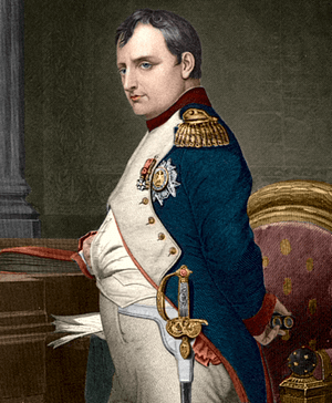 Napoleon Bonaparte Coloured by uploader