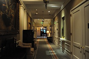 English: Hallway with Cascade Room at the end,...