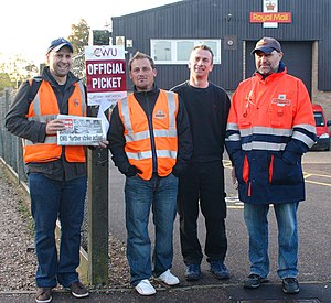 A cheerful and determined picket was held at t...