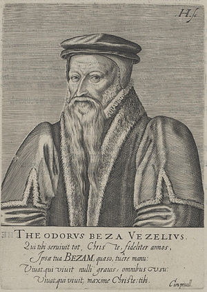 Woodcut of Theodore Beza