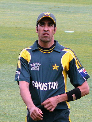 English: Umar Gul at the 2009 ICC World Twenty20.