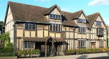 John Shakespeare'in, Shakespeare'in doğum yeri olduğuna inanılan, Stratford-upon-Avon'daki evi.