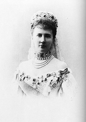 English: Elizaveta Mavrikievna married in 1884...