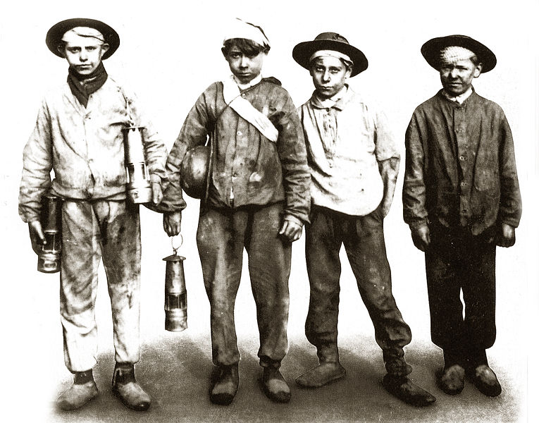 Children - miners. The end of the nineteenth century.
