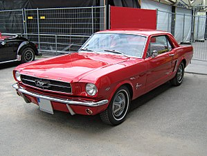 English: 1965 Ford Mustang 2D Hardtop frontvie...