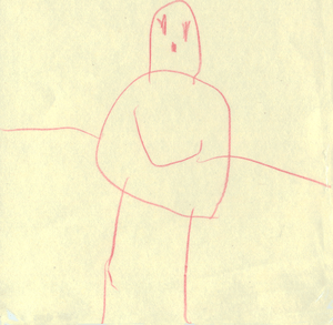 Child Art Aged 4.5 Person 1