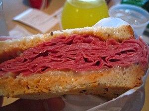 Corned beef Reuben sandwich