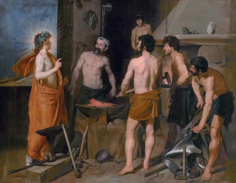 Diego Velazques, Kuźnia Wulkana, 1630 (Muzeum Prado, Madryt)